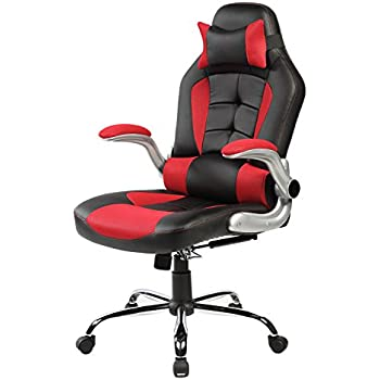 Merax High-back Ergonomic Pu Leather Racing Chair Executive Office Chair Swivel Chair Reclining Chair