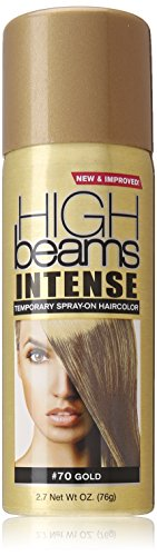 high beams Intense Temporary Spray on Hair Color, Gold, 2.7 Ounce -