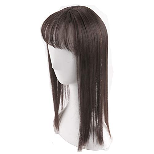 Invisible Hair Topper With 3D Fringe Crown Clip in Hair Piece for Women Thinning Hair 16