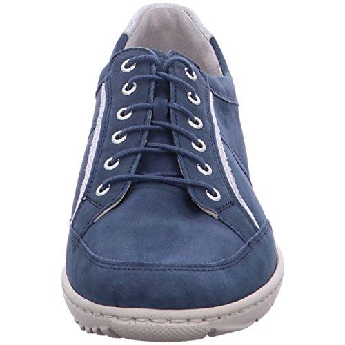 Ville Jeans K Waldläufer Jeans K Silber Weite de Bleu Chaussures Femme à Silber Lacets Weite pour RrrET