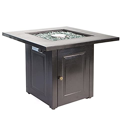 Outdoor Fire Pit Table Furniture Patio Deck Backyard Heater Fireplace LP Gas - Orleans Patio Furniture