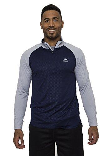 Dri Duck Element (RBX Active Men's Light Breathable Semi-fitted Quarter-Zip Mock Neck Shirt Blue S)