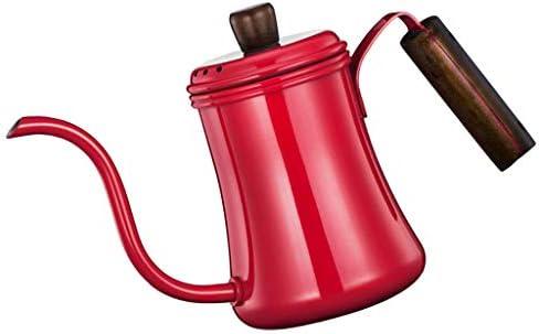 Generic 茶のための700ml容量のステンレス鋼のグースネックのコーヒードリップのやかんの鍋 - 赤