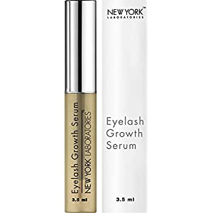 New York Laboratories Eyelash Growth Serum 3.5ml - Dermatologist Lab Tested Cutting Edge Formula for Thicker and Longer Eyelashes and Eyebrows