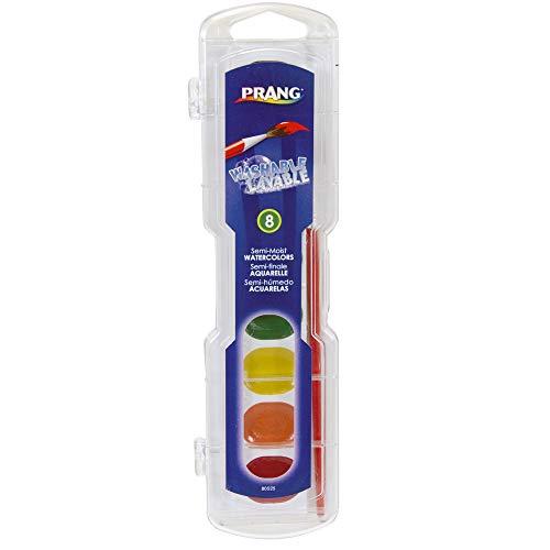 - Prang DIX80525BN Semi-Moist Washable Watercolor Set, 8 Colors, Paint/Plastic, Multi (Pack of 6)