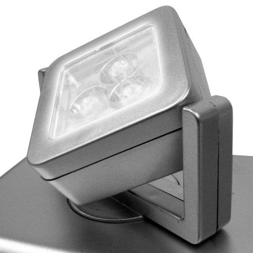 Trademark Home 72-37056 3 Light heads 9 Bright LEDs Under Cabinet Light Fixture