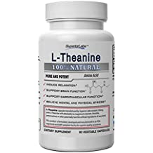 Superior Labs Pure L-Theanine Non GMO, No Additives - 250mg, 90 Vegetable Capsules - Powerful Formula For Healthy Sleep, Mood, Anxiety, Calming