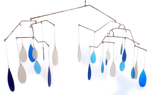 Blue Handworks Glass Raindrops Mobile Yard - Mobile Kinetic
