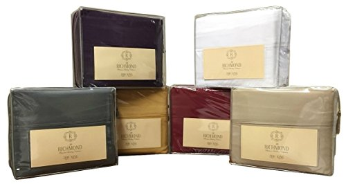 Platinum 2100 Thread Count Series, Luxurious Microfiber, Deep Pocket, 4 PC Collection Sheet Set, King - Brown by Simply ()