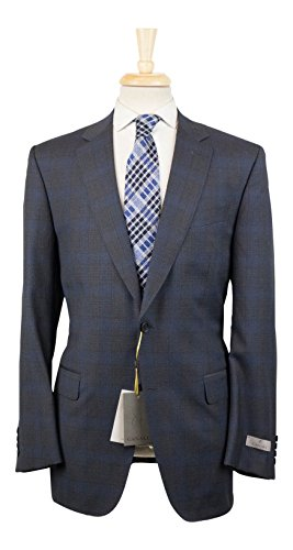 Canali 1934 Gray Plaid Wool 2 Button Suit Size 50/40 for sale  Delivered anywhere in USA