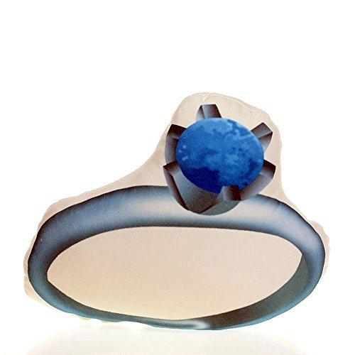Ring Emoji Throw Pillow Fun Gift for Bride Wedding (Wedding Ring Emoji)
