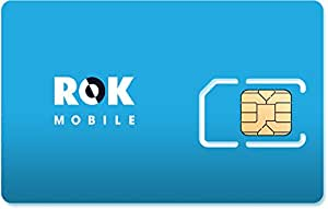 ROK Mobile $50 Preloaded GSM SIM Card w/ 8GB 4G LTE Data