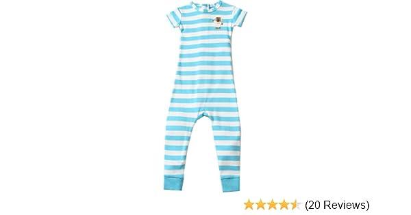 ea2a96a4a9ca Amazon.com  Little Keeper Sleeper Boys  Short Sleeve Zippered Back  Inescapable Pajamas 5T Turquoise  Clothing