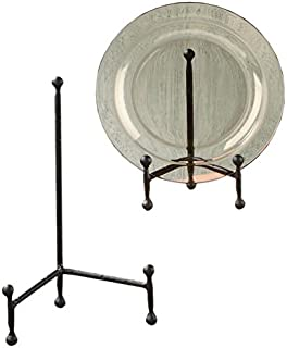 Decorative Tripod Plate Stand and Art Holder Easel in Black Finish - 11 h  sc 1 st  Amazon.com & Amazon.com: Large Metal Platter Bowl Plate Stand Display: Home u0026 Kitchen