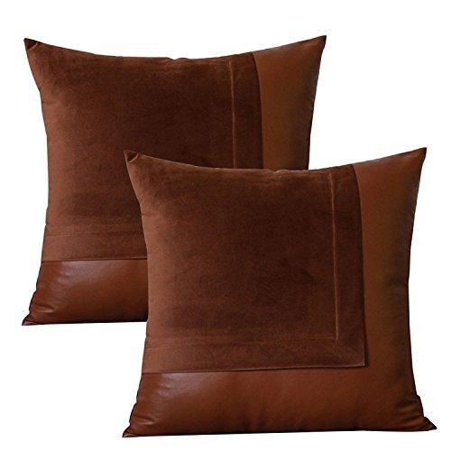 lazamyasa-pack-of-2-sofa-pillows-soft-batik-effect-pu-faux-leather-throw-pillows-home-decorative-cha