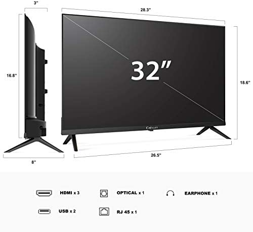 Caixun 32 Inch TV 720p Smart LED TV-C32 High Resolution Television Built-in HDMI, USB – Support Screen Cast Mirroring (2020 Model) 41  95jIH 2BL