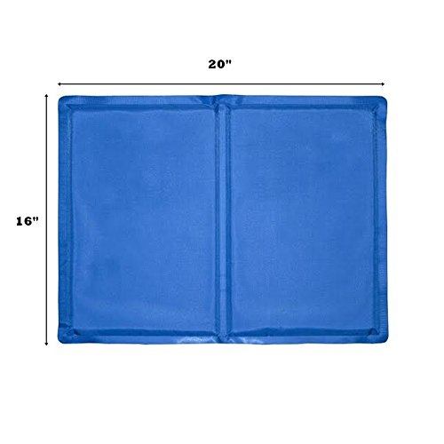 Arifpets Pet Dog Self Cooling Mat Pad for Kennels Crates and for Keeping Dogs Cool in Summer (20X 16 Inches)