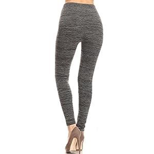 2ND DATE Women's Space Dye Fleece Leggings-Charcoal-S/M