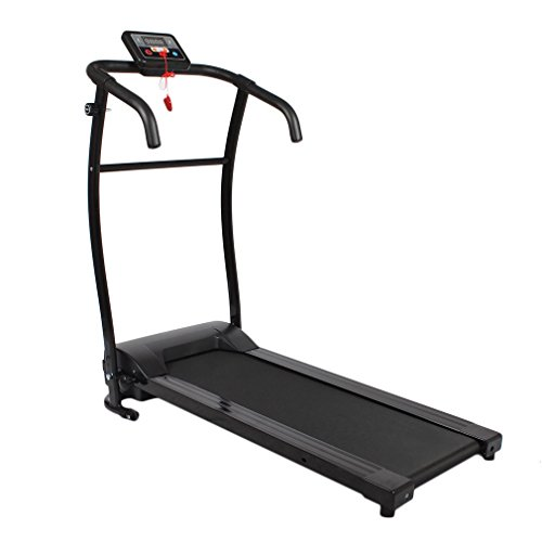 ICOCO HSM-T08B 500W Folding Treadmill Motorised Electric Running Machine Incline Fitness Equipment with LCD Display Silent Motor for Home Exercise (Black) ¡­