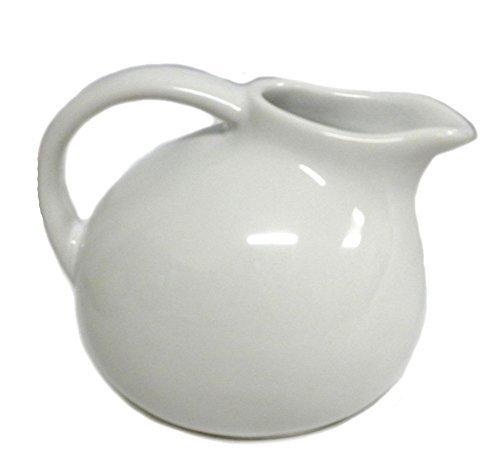180D Small Round Stoneware Pitcher Creamer Retro Colors, White, -