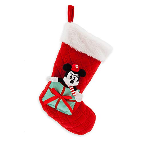 Disney Minnie Mouse Plush Holiday Stocking
