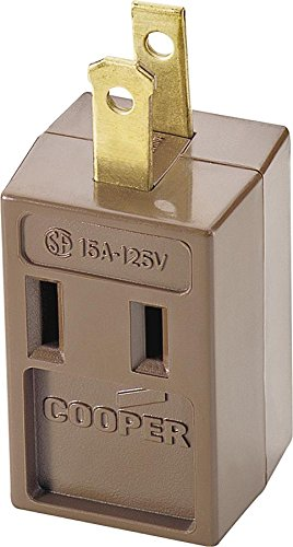 Brwn 3out 3wire Gnd Cube Tap ()