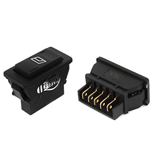 2pcs 5 Pins Power Window Door Lock Rocker Switches