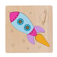 3D Wooden Puzzle Cartoon Learning Educational Kids Toy