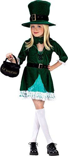Big Girls' Lucky Leprechaun Costume Medium (Leprechaun Costumes For Kids)