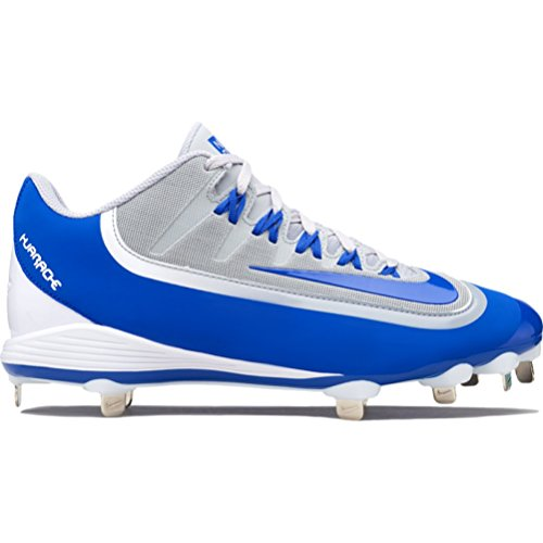 Nike Hommes Huarache 2kfilth Clé De Voûte Mi Baseball Gris Taquet