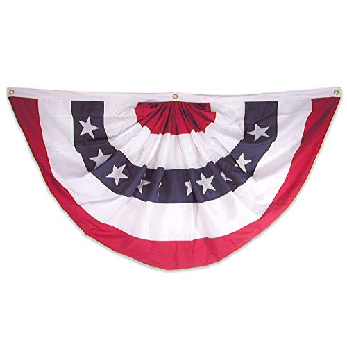 (Super Tough USA1_53NPF Pleated Fan, Red/White/Blue)