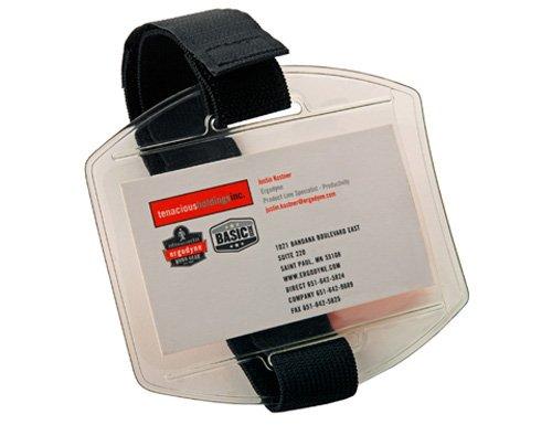 Ergodyne Squids 3386 Vinyl Arm Band ID/Badge Holder, Black