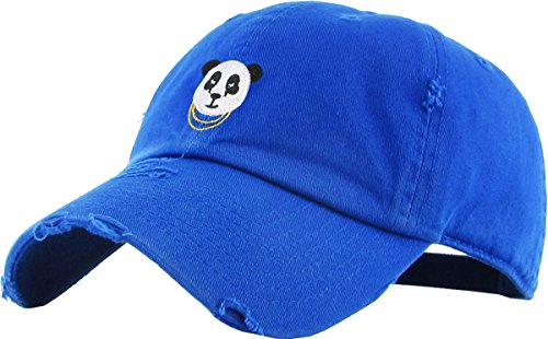 KBSV-056 Roy Panda Vintage Distressed Dad Hat Baseball Cap Polo Style