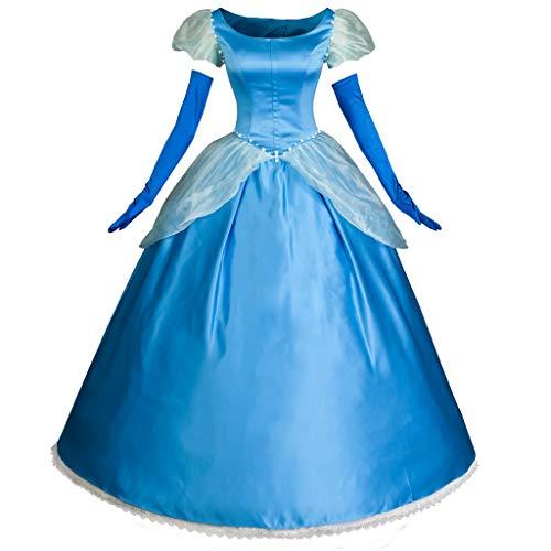 CosFantasy Cinderella Cosplay Dress Layered Costume Ball Gown mp003412 (Women L) Blue -