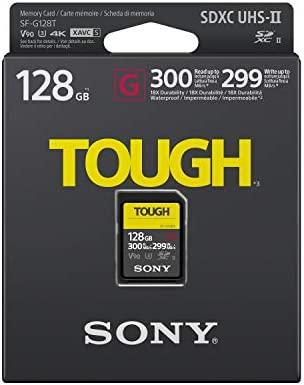 Sony SF-G128T UHS-II SD Tough Tarjeta de Memoria - 128GB Read 300mb/s Write 299mb/s