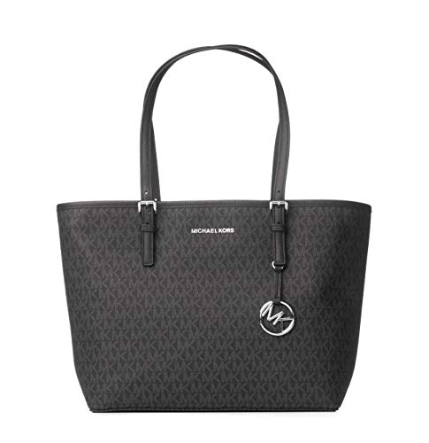 (Michael Kors Women's Jet Set Travel - Medium Carryall Tote No Size (Black/Black))