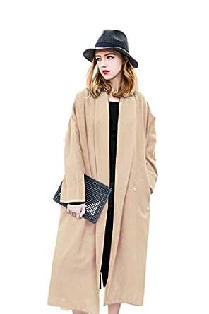 Amazon.com: Trench Coat Women Winter Coat Women Top Long Beige Coat Wool Thick Spring Autumn