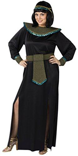 Funworld Womens Egyptian Sexy Midnight Cleopatra Black Halloween Fancy Costume, Plus (16-20)