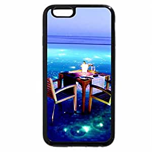 iPhone 6S / iPhone 6 Case (Black) Table for Two on Lit Pool