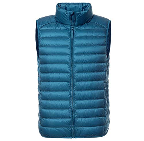 Clothing Mens Vest Ultralight Packable Quilted Warm Down Collar Blue HX Down Men's Vest Sizes Comfortable Vest fashion Jacket Down Stand Vest 6w0wH17q