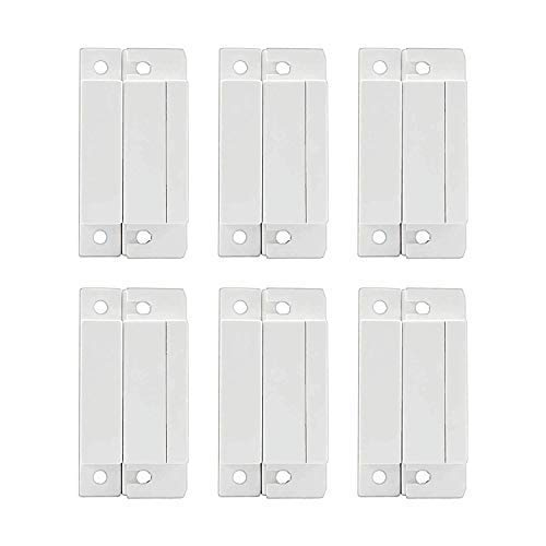 (Mbangde Lot of 6 Wired Magnetic Door Window Contact Reed Switch Personal Gap Alarm - Cabinet Strip Light Switch NC DIY)