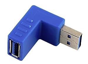 SaySure-Right Angle USB 3,0 tipo A to Male Female Plug