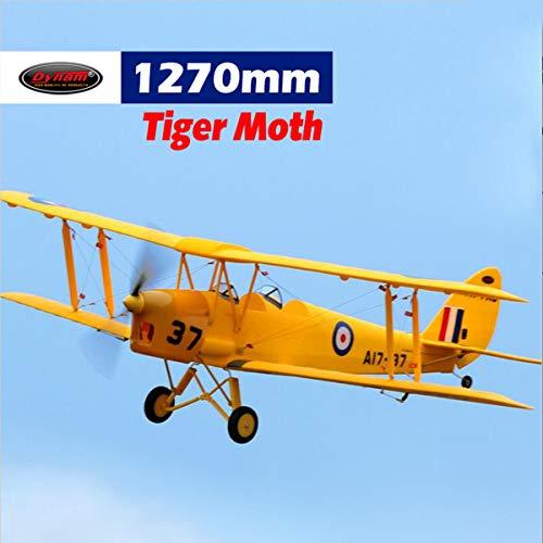 DYNAM RC Airplane Tiger Moth 1270mm Wingspan - PNP
