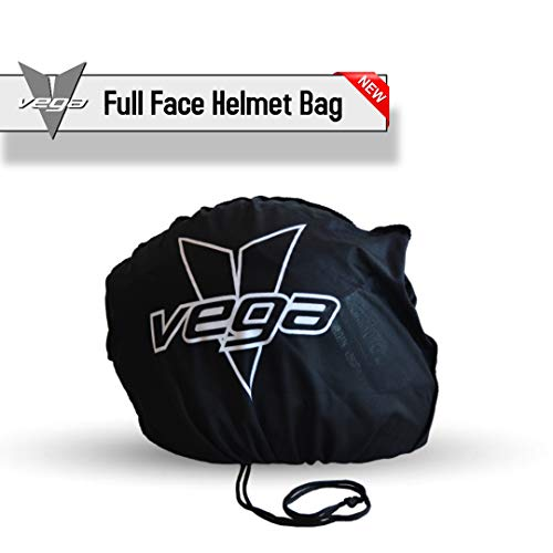 Vega Helmets 91-1022 Black Universal Cloth Logo Helmet - Drawstring Bag Helmet