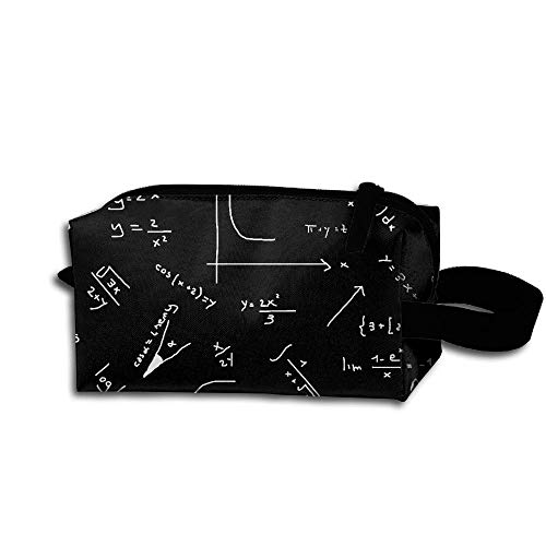 - Mathematical Formula Portable Women's Tolietry Bag Cosmetic Travel Case Accessories Organizer
