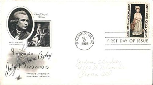 Honoring John Singleton Copley, 1737-1815 - Famous American Portrait Painter Original First Day Cover