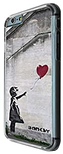 iphone 6 4.7'' Banksy Grafitti Art Balloon Girl Funky Design Carcasa Diseño Fashion Trend Caso Gel Rubber Durable