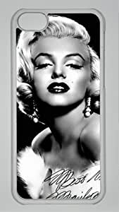 Marilyn Monroe M034 Iphone 5C Transparent Sides Hard Shell PC Case by eeMuse