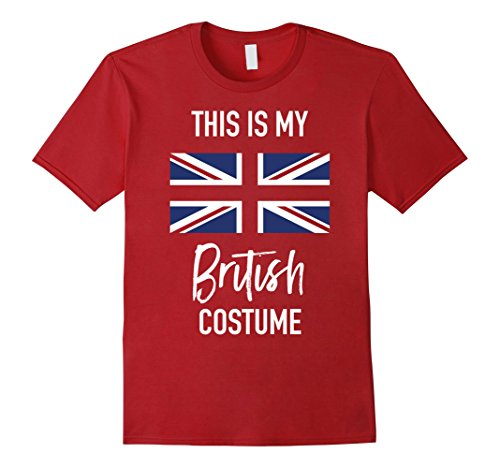 Mens This is my British Costume T-Shirt - Funny Halloween Tee XL Cranberry (Simple But Funny Halloween Costumes)