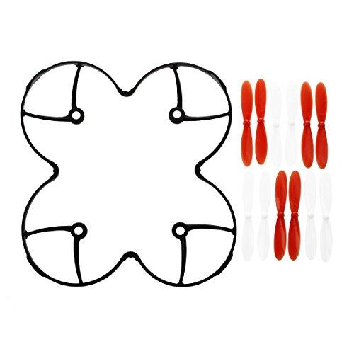 SODIAL(R) 3 x Ensembles de helices ou lames de rechange pour Hubsan X4 H107L, H107C, H107D, Nanodrone VCAM, V2 et Skyview (Blanc,rouge,noir)